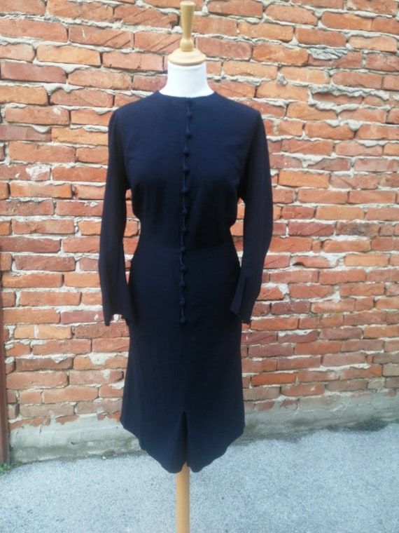 Vintage 1940s 40s wool knit dress - image 7