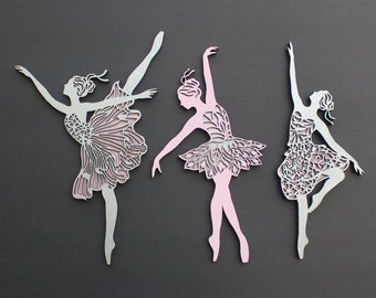 Laser Cut Ballerina Dress Wall Art Ballerina Decor Ballerina Dress Decor Unfinished Ballerina Wooden Cutouts Dance Decor Ballet Decor