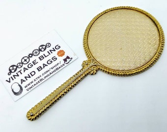 Hand mirror Old 122x62mm Vintage Hand Mirror Small Gold Handmirror Gold Handbag Mirror Small Vintage Handmirror Small Hand Mirror Gold Vintage Mirror Etsy Hand Mirror Etsy