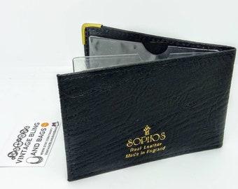 d678ca08b1 ... Sophos Vintage, portafoglio carta di credito dell'annata, caso di carta  di credito nera, Sophos carta business case, porta biglietti da visita in  pelle