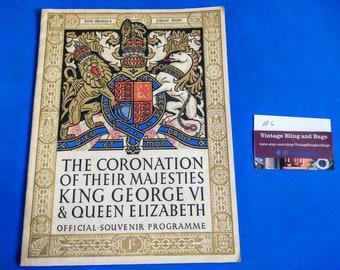 royal ephemera Royal memorabilia commemorative program QEii coronation #4 1953 Queen Elizabeth II official coronation souvenir programme