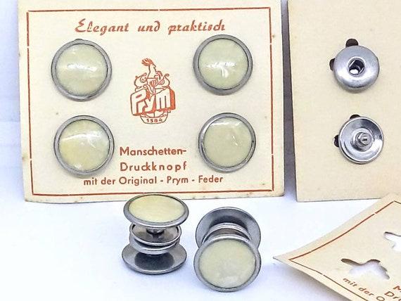 1930s art deco cufflinks vintage cufflinks Prym snap cufflinks 1930s NEW OLD STOCK 14mm brown vintage cufflinks brown snap cufflinks