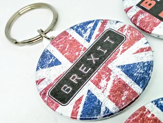 Brexit roches porte-clé, Brexit, Brexit porte-clé, laisser Brexit insigne, Royaume-Uni keyring, porte-clé à la main, Brexit porte-clé, anti EU trousseau de clés