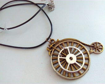 Penny farthing, necklace, penny farthing pendant, steampunk, Steampunk necklace, handmade steampunk, bikes, penny farthing, bicycle, #2