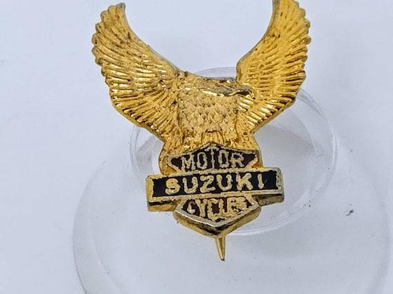 Eagle on motorcycle Collectable pin badge Honda Harley