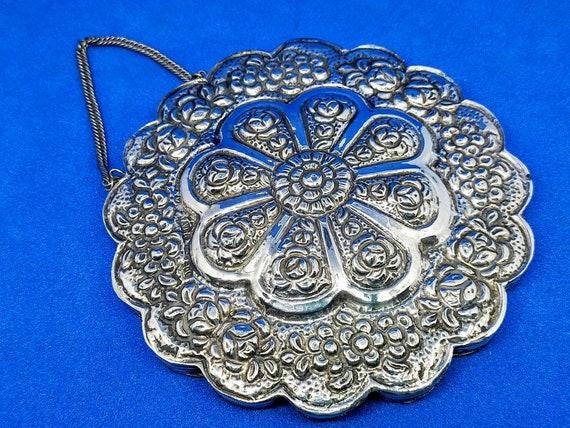 13cm Antique vintage 900 Silver Turkish Wedding mi