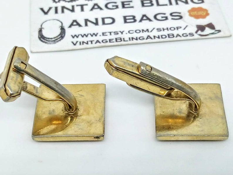 1970s 17mm Vintage cufflinks brutalist cuff links vintage sunburst cufflinks square cuff links vintage cufflinks wedding cufflinks