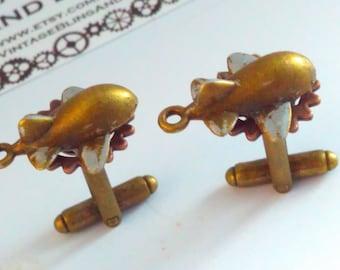 Handmade steampunk, quirky steampunk cufflinks, Steampunk cufflinks, aeroplane cufflinks, steampunk cuff links, bridegroom, aeroplane gift