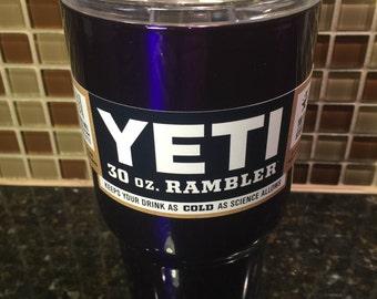 2d625523649 Custom YETI 30 oz Rambler - Candy Purple / Powder Coated