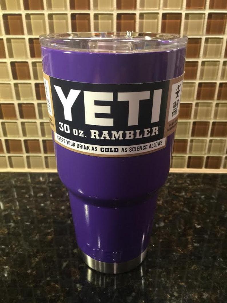 f5f00bc43b8 Custom YETI 30 oz Rambler Plum Purple / Powder Coated image ...