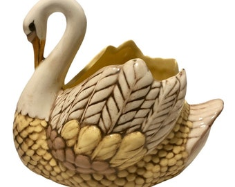 Vintage wooden hand painted Swan Alter India