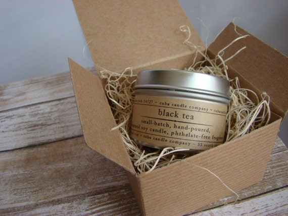 BLACK TEA. Soy Candle. Scented Candle. Natural Candle ...