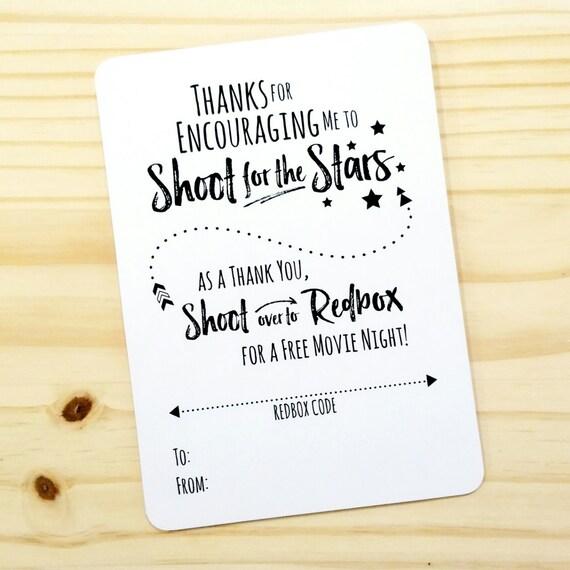 printable movie night appreciation redbox gift card holder etsy