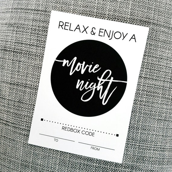 Printable Enjoy a Movie Night Redbox Gift Card Holder for