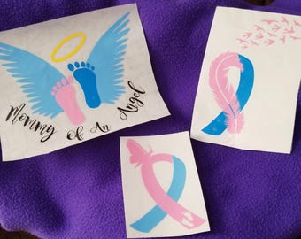 Breast Cancer Awareness/Pregnancy/Infant Loss Awareness Decals/Survivor/Breast Cancer Survivor Decals