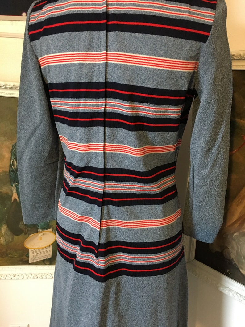 1960s NWT Deadstock NOS Red /& Blue Striped Midi Shirt Shift Dress Mod Gogo Beatles Who Twiggy
