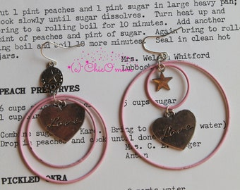 Wooden Fairy Tale Word Letter Stud Earrings: Shabby Chic   Etsy