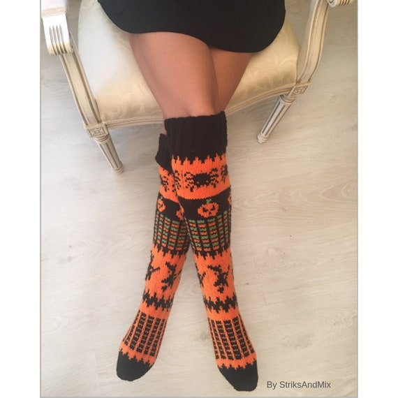 92fdc3cb6 Items similar to Halloween Long socks