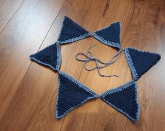 Crochet Blue Flags Sling