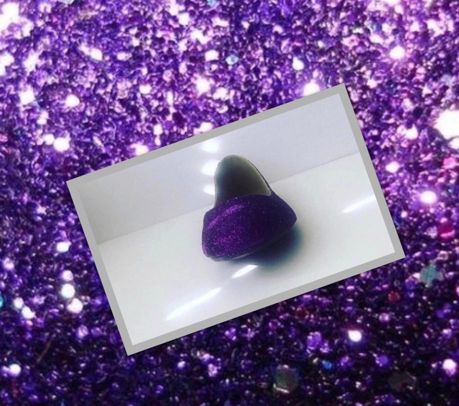 purple shoes women's dark plum purple glittered ballet flats w/purple shimmery bottoms *free u.s. shipping* jco.customs by k