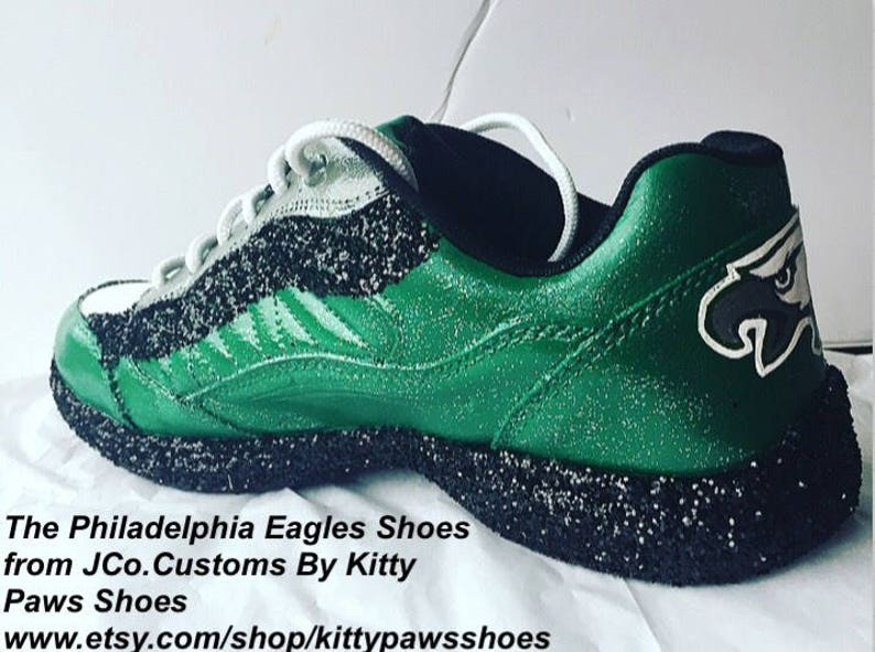 7766c9b3b5f Philadelphia Eagle Women Custom Football Fan Emerald Green
