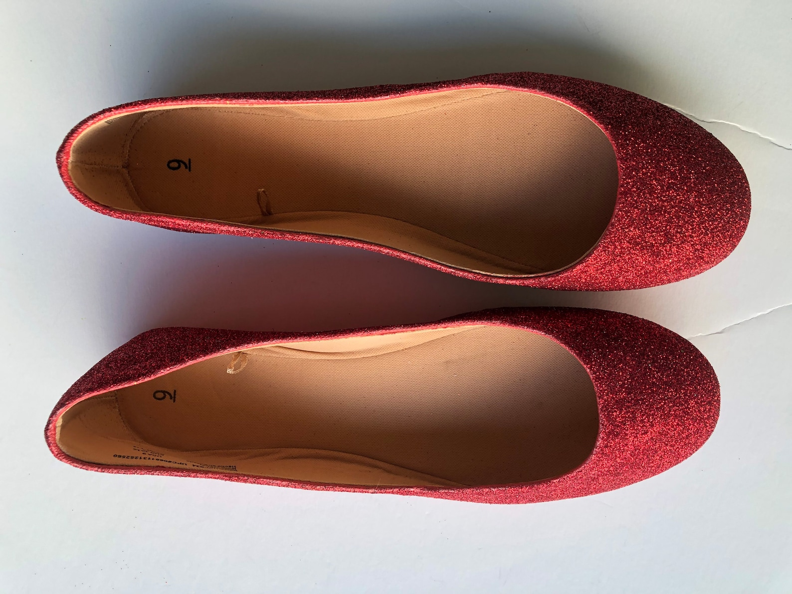 red shoes women's valentine's day gift custom cherry ruby red glitter ballet flats *free u.s. shipping* jco.customs by k
