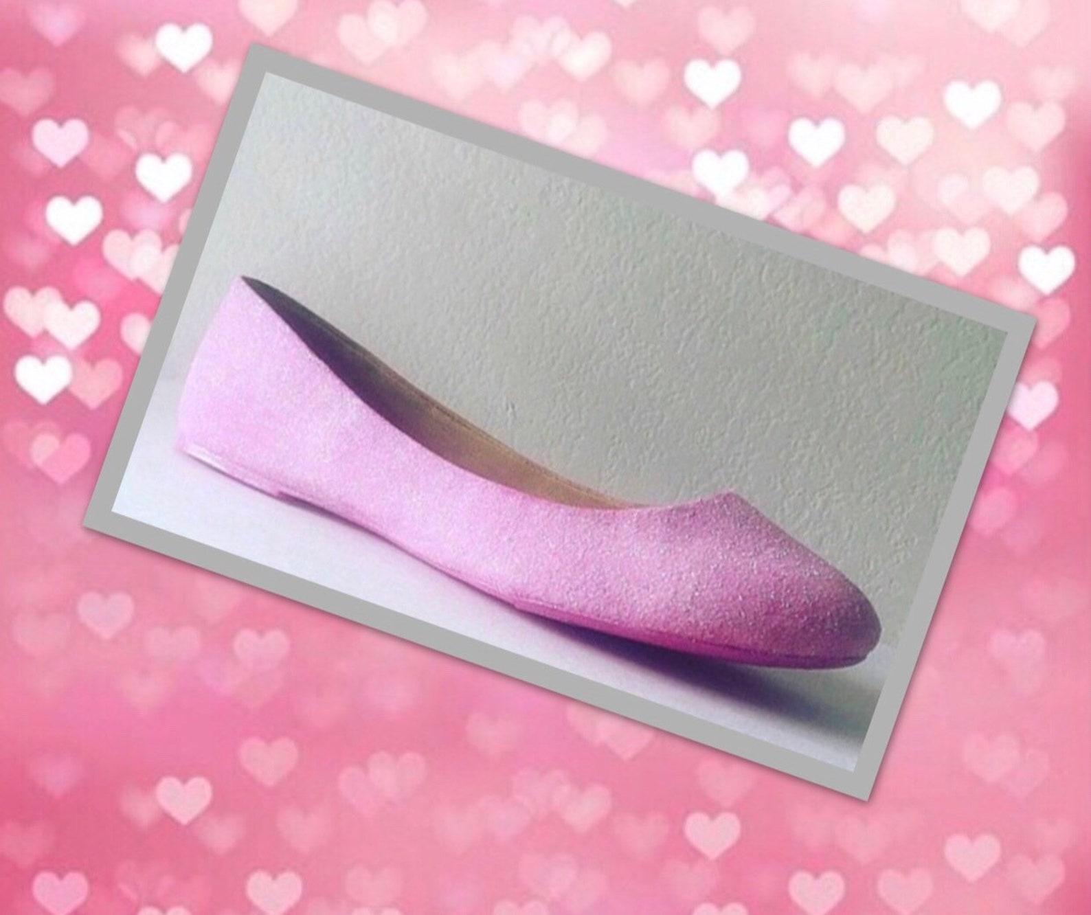 ballet flats pink women's custom glittered bridal flats *free u.s. shipping* jco.customs by kitty paws shoes