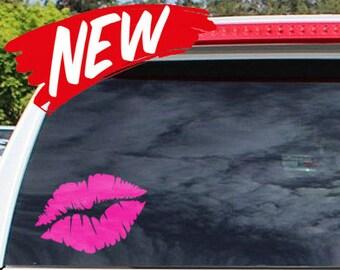 Smoochie Lip Window Decal