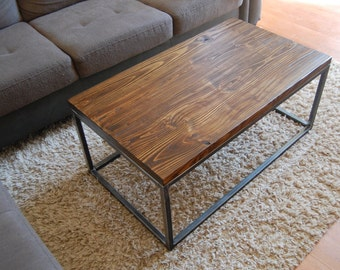 Industrial coffee table Etsy