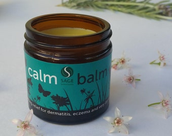 Calm Balm 60ml - soothing relief for dermatitis, eczema, psoriasis, rashes and dry skin