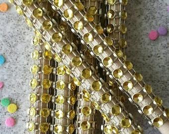 "13- 5 1/2"" Rhinestone bling Gold diamond mesh candy apple sticks,  candy supplies, skewers, bling sticks, candy apples, party, dessert bar"