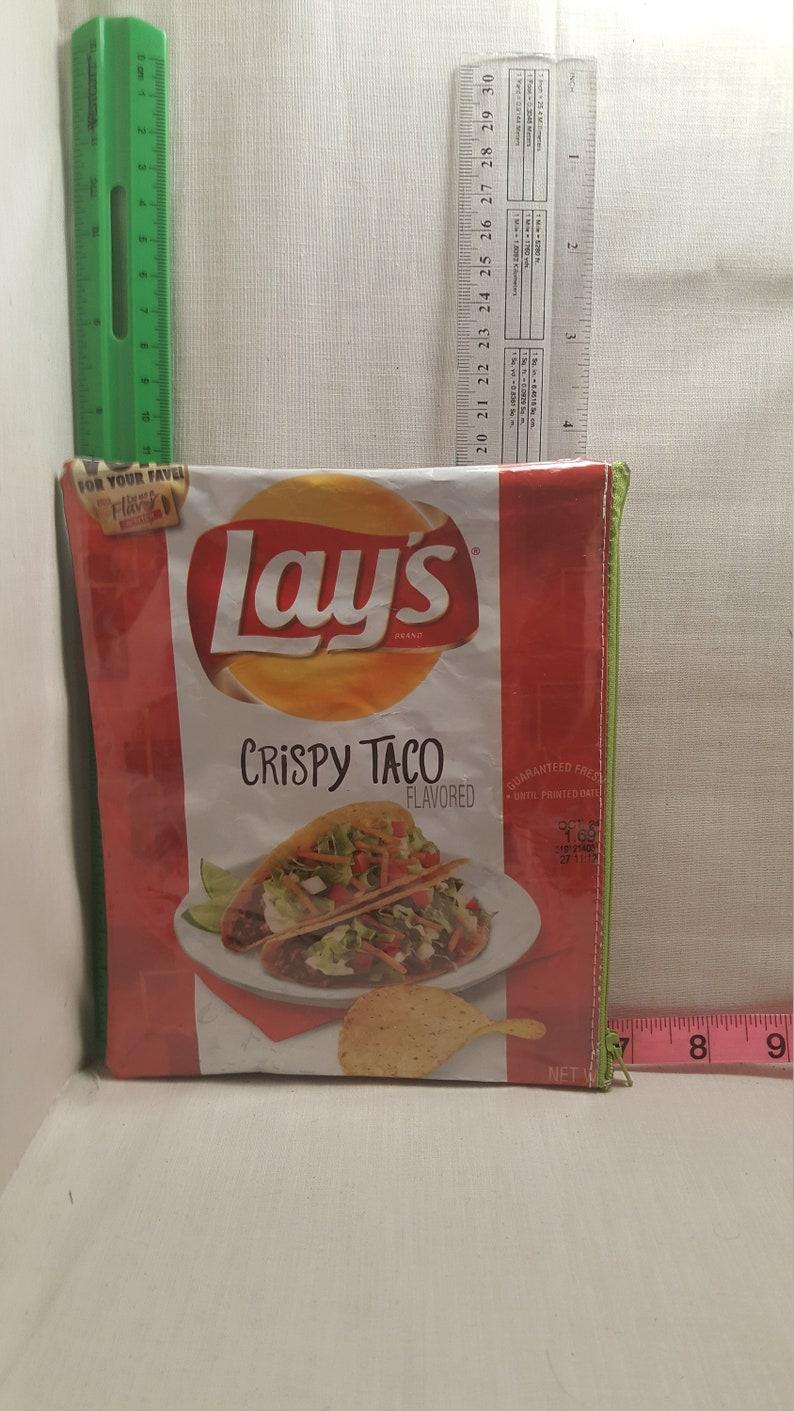 crispy taco upcycled zipper bag