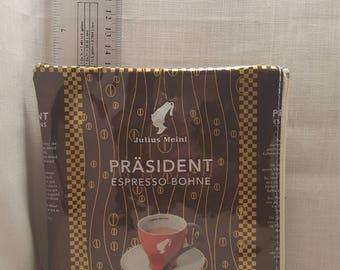 Espresso coffee upcycled zipper bag