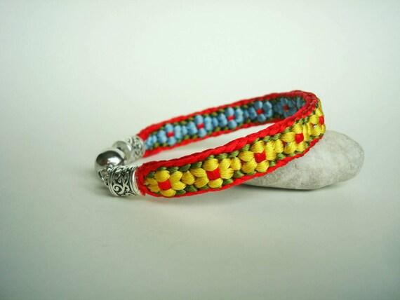Colorful Kumihimo Bracelet Friendship Gift Handmade