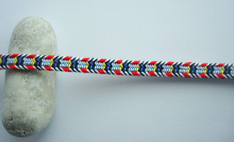 Colorful braided friendship bracelet Bright kumihimo bracelet Friendship gift  Gift under 15 Gift for her Southwestern style Handmade