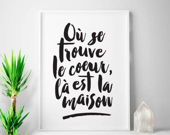 Tout Est Possible French Decor French Sayings French Print Etsy