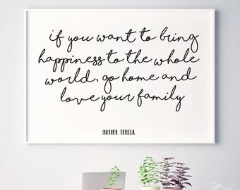 Image of: Sayings Mother Teresa Family Mother Theresa Quote Family Quotes Happy Digital Family Family Printables Family Prints Home Decor Happiness Etsy Family Quotes Love Makes Family Gift For Family Etsy