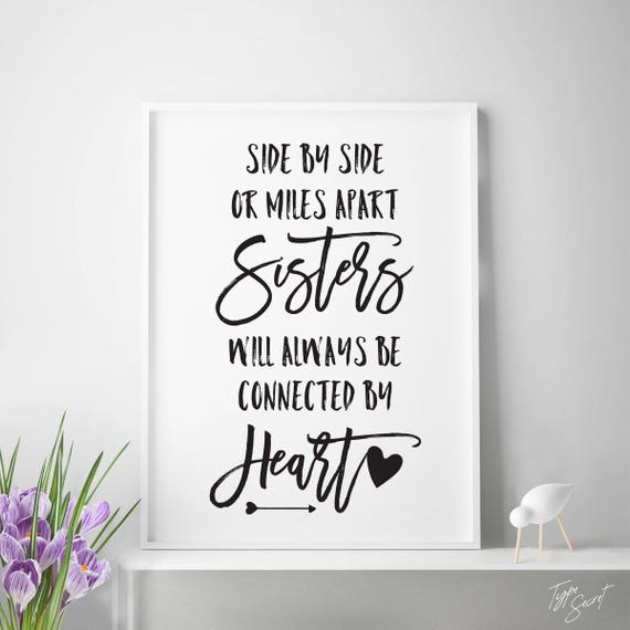 I Love You More Than Quotes: Printable Sister Quotes Sisters Quote Sisters Wall Art Big
