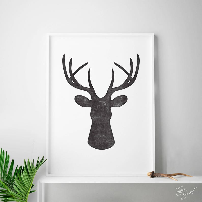 photo about Printable Deer Antlers referred to as Antlers deer print, deer decor, printable deer thoughts, deer intellect wall mount, hirschgeweih, tete de cerf, rustic, deer thoughts, deer antlers artwork