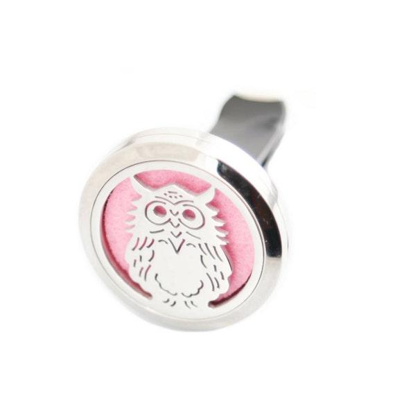 New Owl, Essential Oil Car Diffuser, 30 mm, Stainless Steel, Car Diffuser, clip on car diffuser