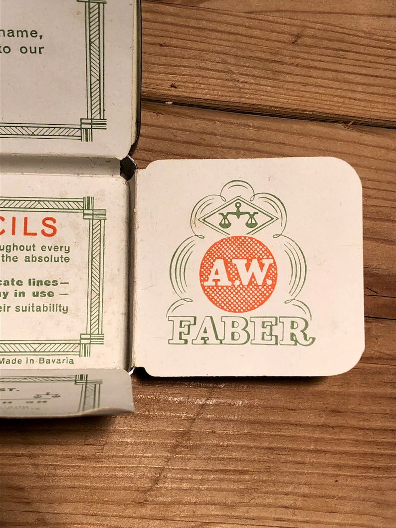 vintage aw faber castell pencil tin germany c19281936