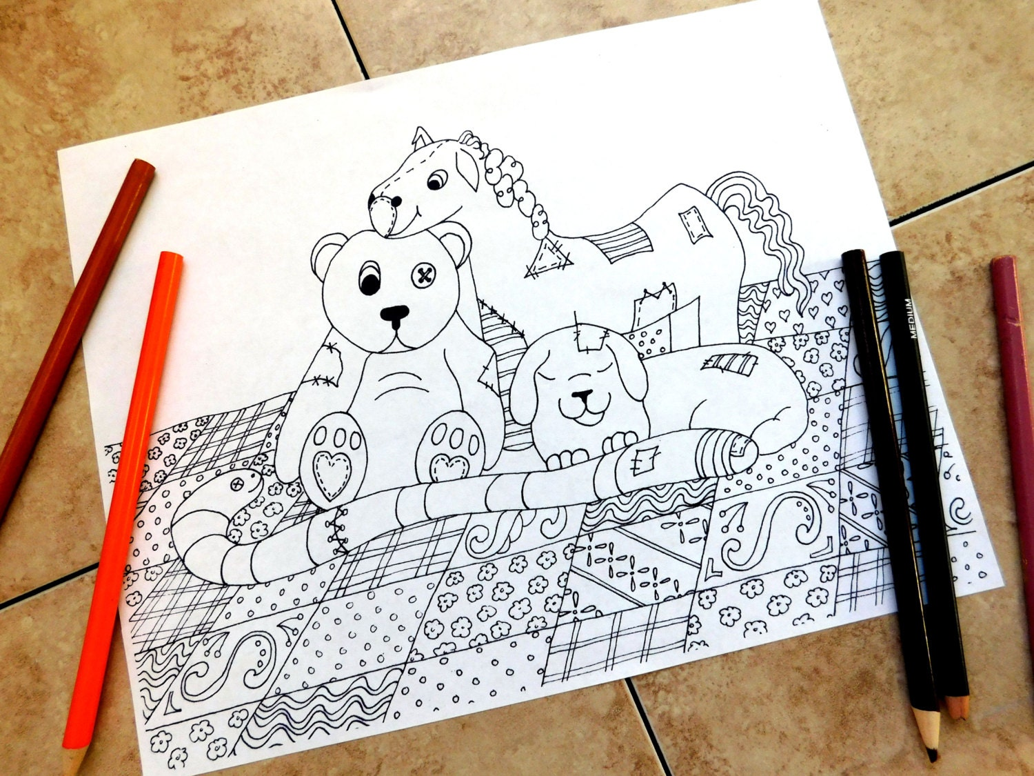 stuffed animals coloring pages adult coloring page teddy. Black Bedroom Furniture Sets. Home Design Ideas
