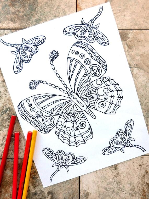 Schmetterling Ausmalbilder Malvorlagen Blume Coloring | Etsy