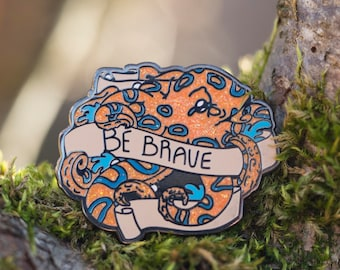 Be Brave Blue Ringed Octopus Enamel Pin