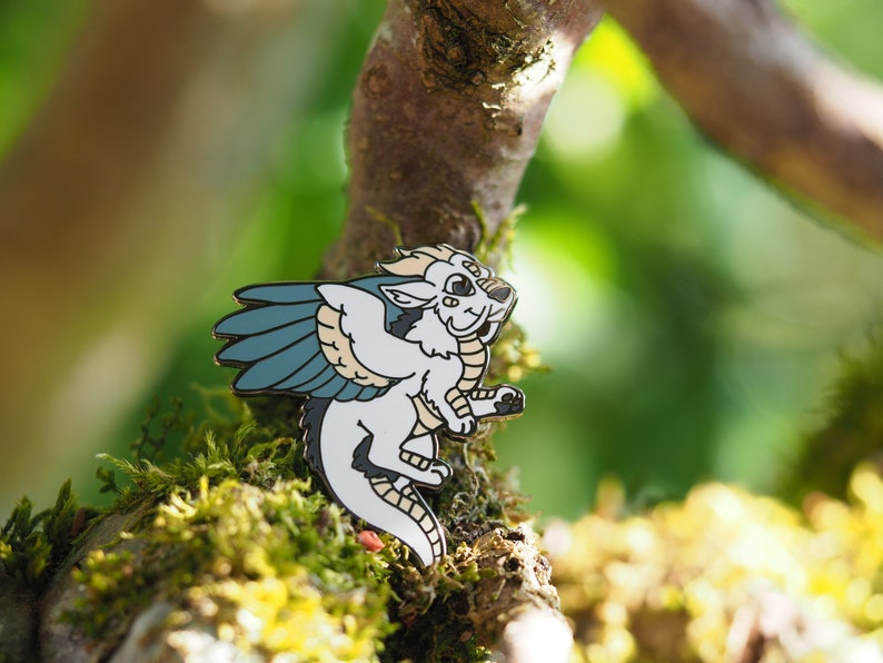 Air Dragon Hard Enamel Pin image 0