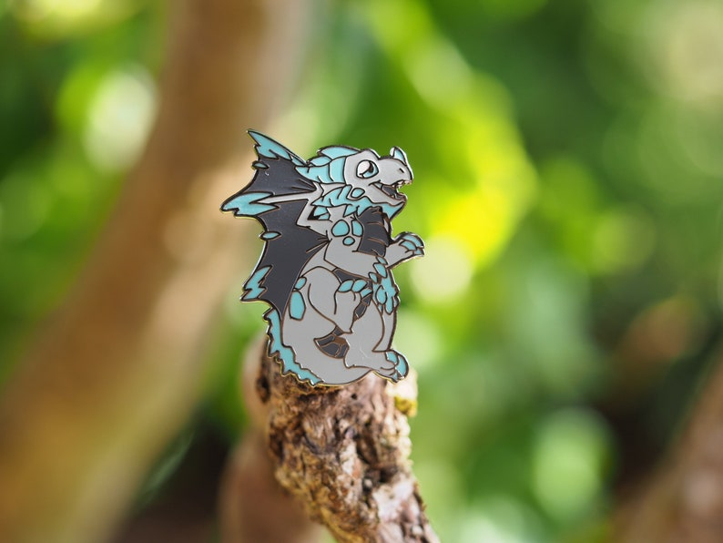 Frost Dragon Hard Enamel Pin image 0