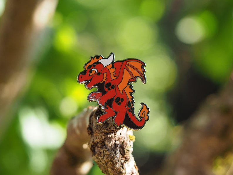 Fire Dragon Hard Enamel Pin image 0