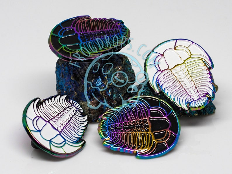 Rainbow Metal Trilobite Enamel Pin Select Color image 0