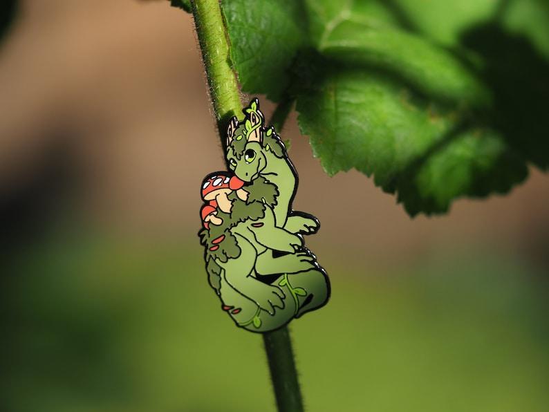 Plant Dragon Hard Enamel Pin image 0
