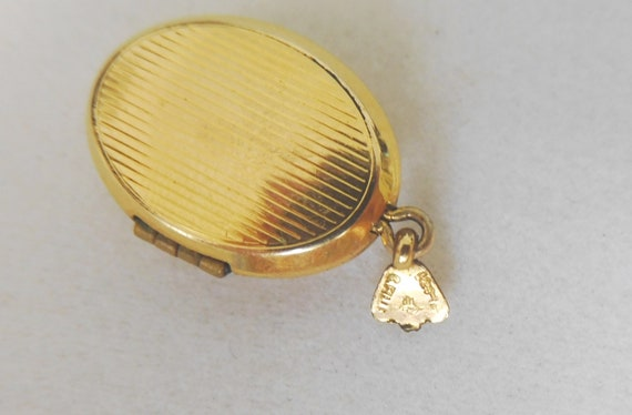 Gold Filled Religious Locket with Mother of Pearl… - image 6